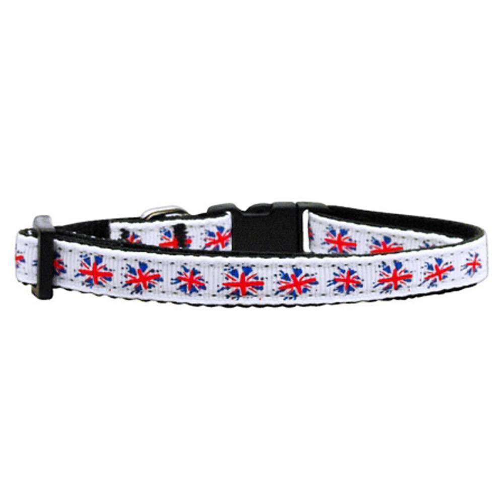 Graffiti Union Jack(Uk Flag) Nylon Ribbon Collar Small-Mirage Pet Products-DirtyFurClothing
