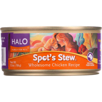 Halo Purely For Pets Canned Dog Food - Spots Stew - Wholesome Chicken - 5.5 Oz - Case Of 12-Halo Purely For Pets-DirtyFurClothing