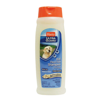 HARTZ ULTRA GUARD FLEA & TICK SHAMPOO FOR DOGS, WITH OATMEAL, 18 FL. OZ. - 532 ML-DirtyFurClothing-DirtyFurClothing