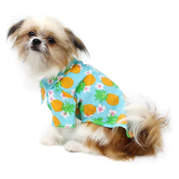 Hawaiian Camp Shirt - Pineapple Luau-DirtyFurClothing-DirtyFurClothing