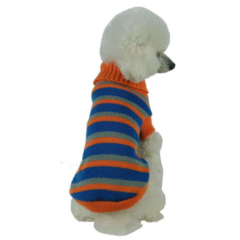 Heavy Cable Knit Striped Fashion Dog Sweater-Pet Life-DirtyFurClothing