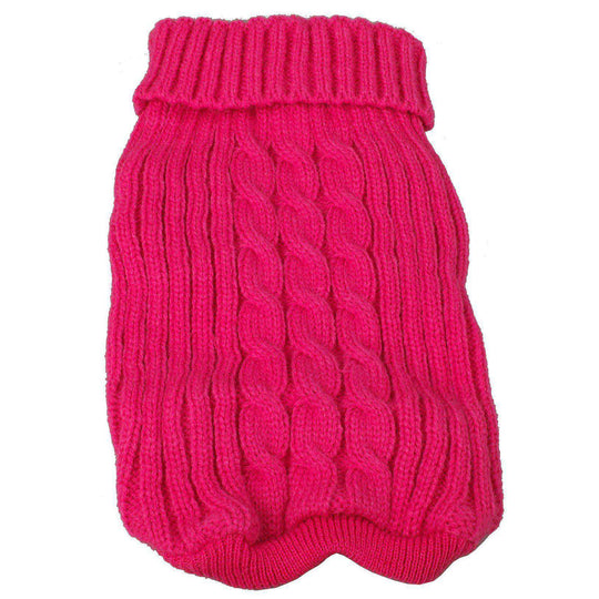 Heavy Cotton Rib-Collared Pet Sweater- Light Pink-Pet Life-DirtyFurClothing