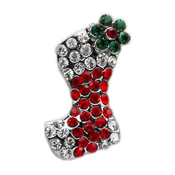 Holiday 10mm Slider Charms Red Stocking-Mirage Pet Products-DirtyFurClothing