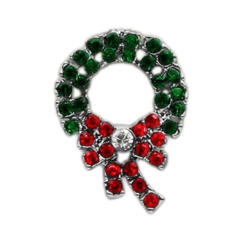 Holiday 10mm Slider Charms Wreath-Mirage Pet Products-DirtyFurClothing