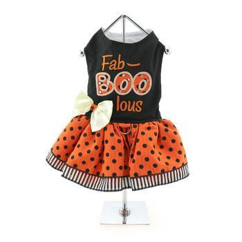 Holiday Dog Harness Dress - Fab-Boo-Lous-DirtyFurClothing-DirtyFurClothing