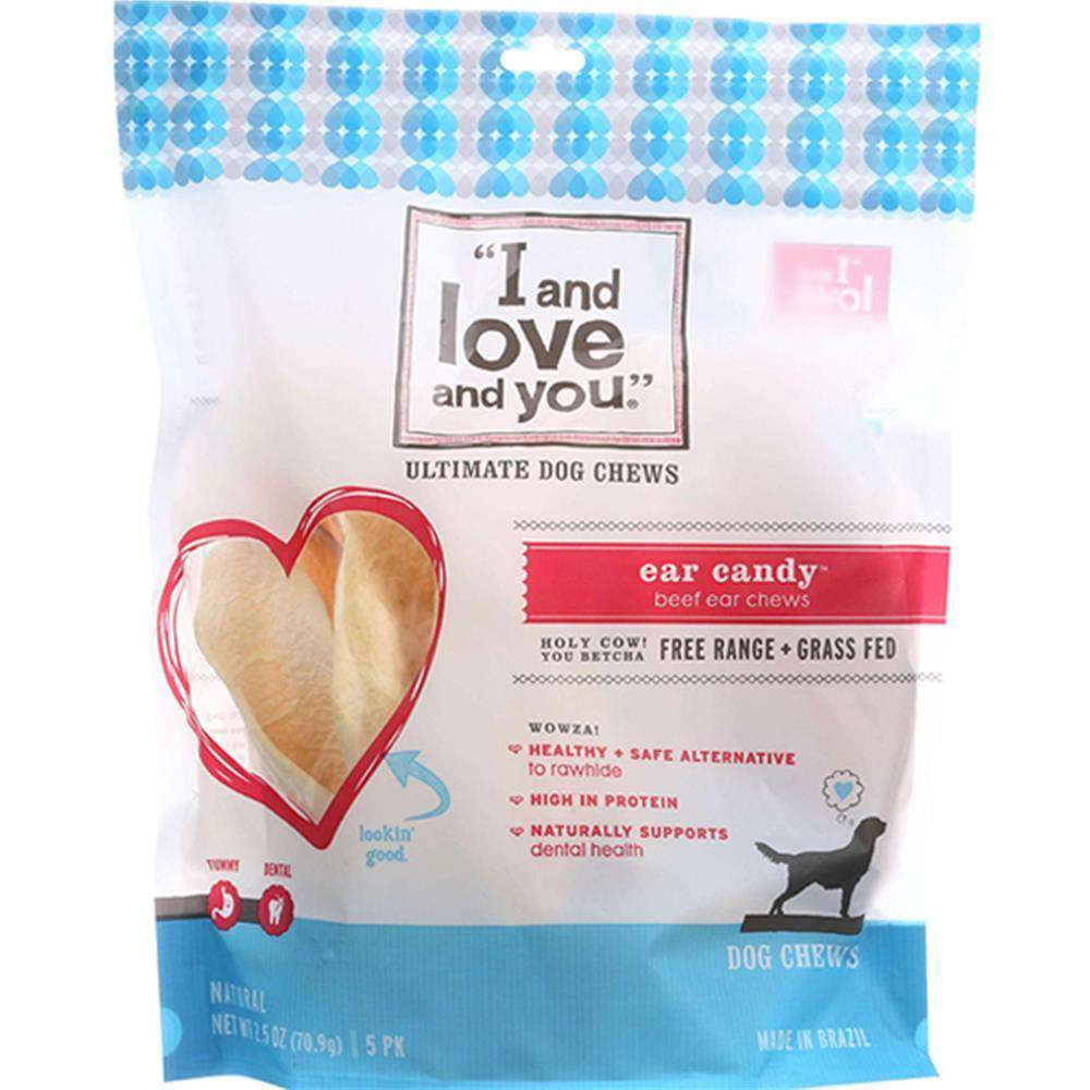 I And Love And You - Cow Ear Dog Chew ( 6 - 5 Ct) - Cow Ear Dog Chew-I And Love And You-DirtyFurClothing