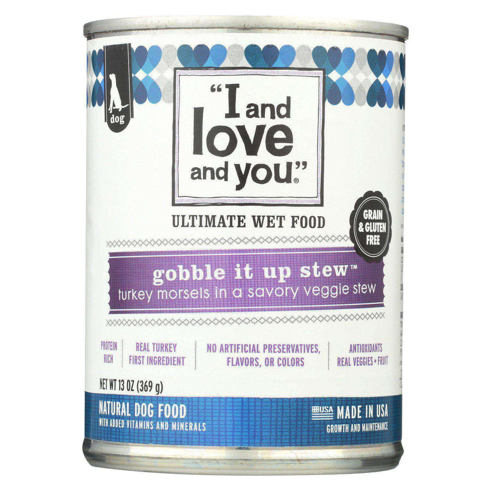 I And Love And You Gobble It Up Stew - Wet Canned Dog Food - Case Of 12 - 13 Oz.-I And Love And You-DirtyFurClothing