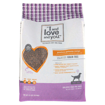 I And Love And You I And Dog Kibble Poultry - 23 Lb.-I And Love And You-DirtyFurClothing
