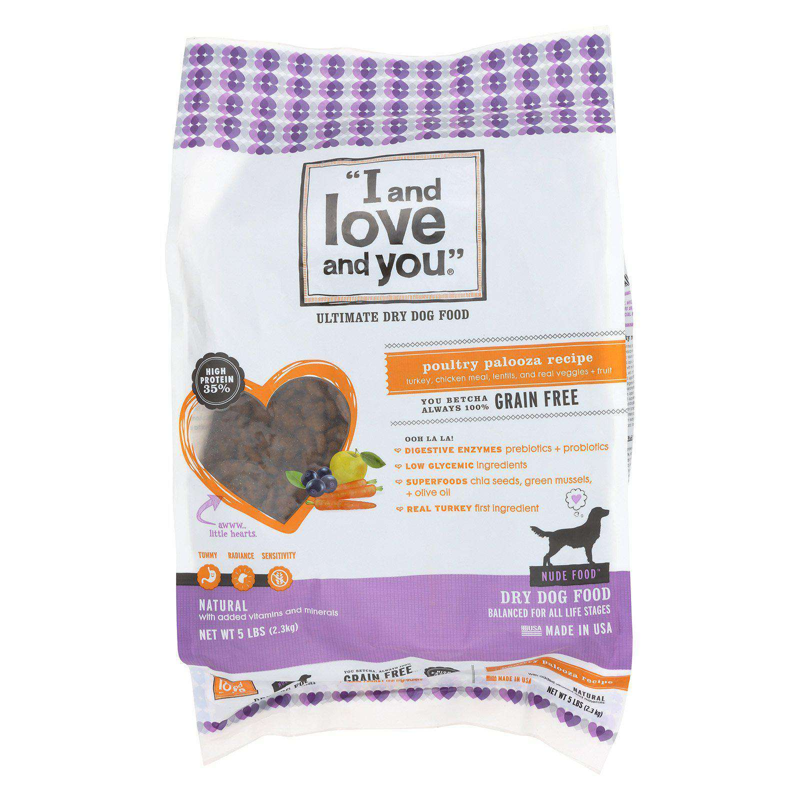 I And Love And You Nude Food - Poultry Palooz.a - Case Of 3 - 5 Lb.-I And Love And You-DirtyFurClothing