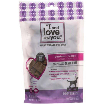 I And Love And You - Venison Jerky Dog Treats ( 6 - 4 Oz) - Venison Jerky Dog Treats-I And Love And You-DirtyFurClothing