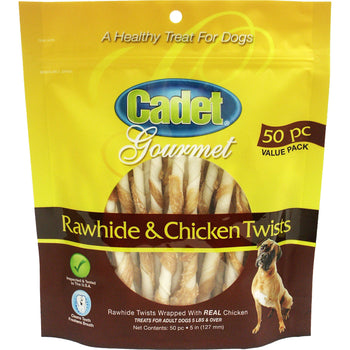Ims Trading Corporation - Cadet Gourmet Rawhide & Chicken Twist Dog Treats-Ims Trading Corporation-DirtyFurClothing