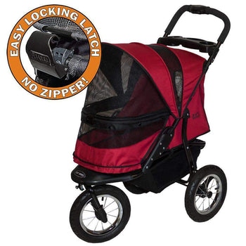 Jogger No-zip Dog Stroller, Rugged Red-Pet Gear-DirtyFurClothing