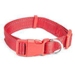 Large Red Adjustable Reflective Collar-DirtyFurClothing-DirtyFurClothing