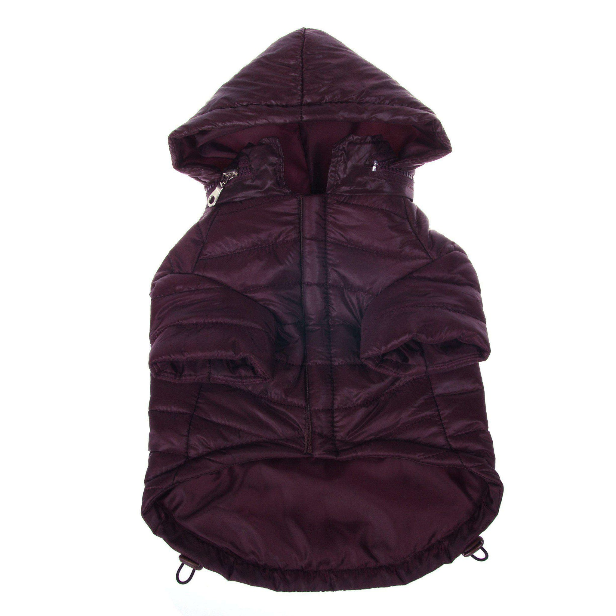 Lightweight Adjustable 'Sporty Avalanche' Pet Coat - Dark Cocoa Brown-Pet Life-DirtyFurClothing