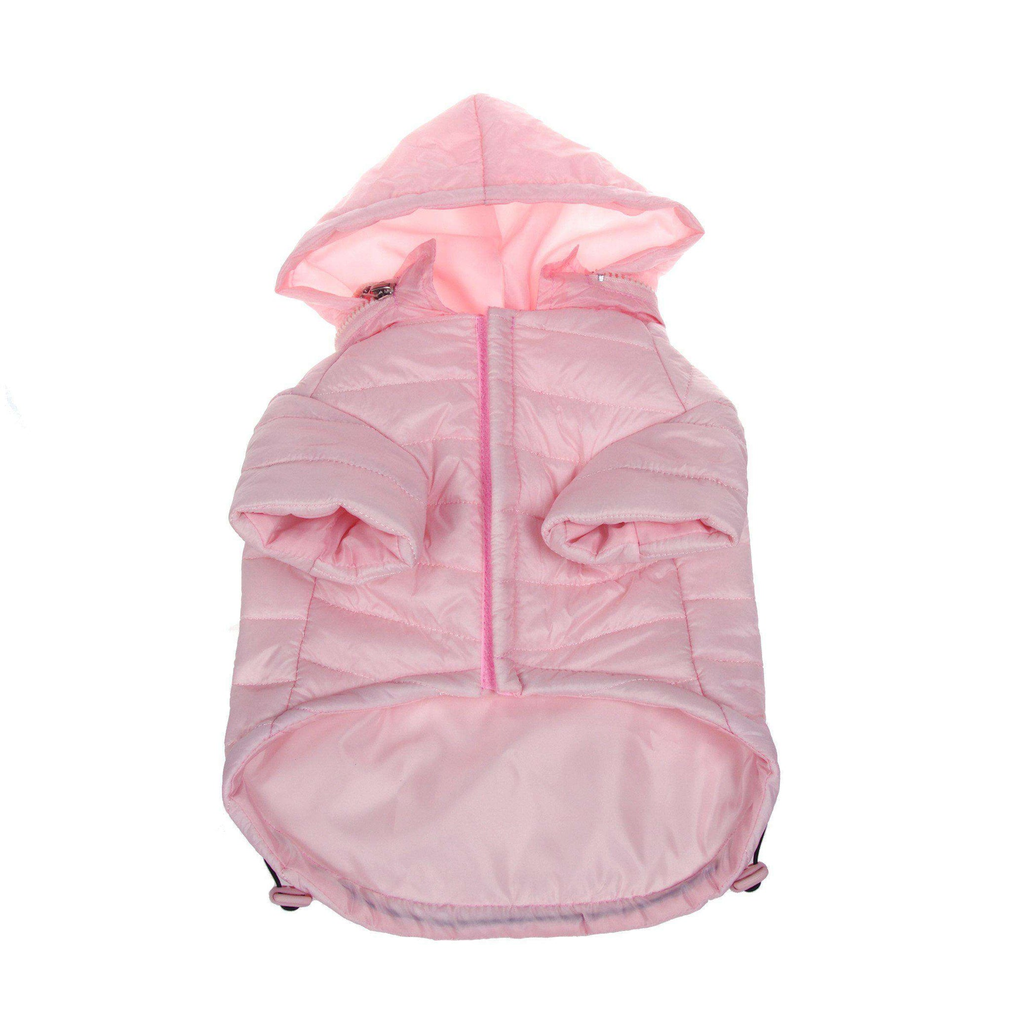 Lightweight Adjustable 'Sporty Avalanche' Pet Coat - Light Pink-Pet Life-DirtyFurClothing