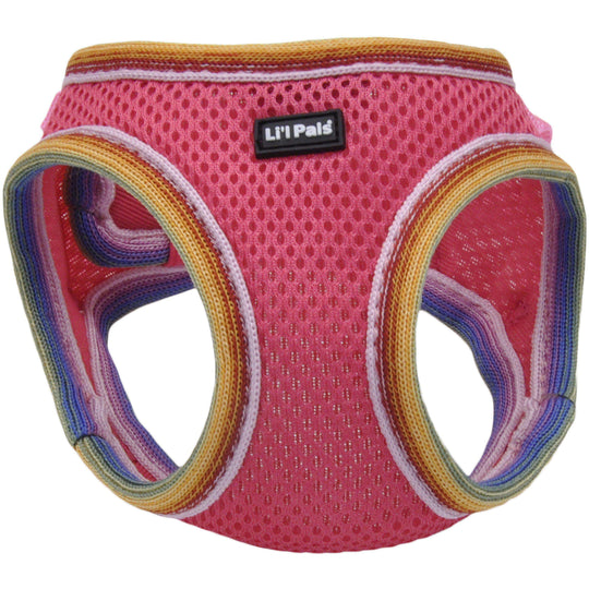 Li'l Pals Comfort Mesh Dog Harness-Pink-Petite Extra Small-Coastal Pet Products-DirtyFurClothing
