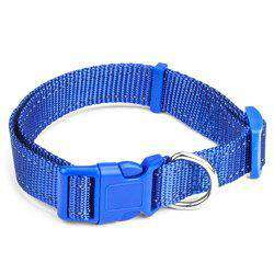 Medium Blue Adjustable Reflective Collar-DirtyFurClothing-DirtyFurClothing