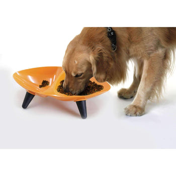 Melamine Couture Sculpture Double Feed And Water Dog Bowl-Pet Life-DirtyFurClothing