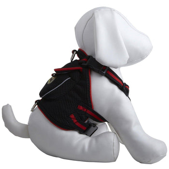 Mesh Dog Harness With Pouch - Black-Pet Life-DirtyFurClothing