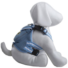 Mesh Dog Harness With Pouch - Blue-Pet Life-DirtyFurClothing