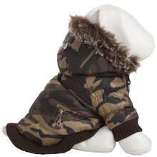 Metallic Fashion Pet Parka Coat - Camouflage-Pet Life-DirtyFurClothing