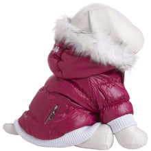 Metallic Fashion Pet Parka Coat - Metallic Pink-Pet Life-DirtyFurClothing
