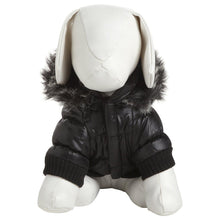 Metallic Fashion Pet Parka Dog Coat - Metallic Black-Pet Life-DirtyFurClothing