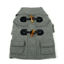 Military Static Rivited Fashion Collared Wool Pet Coat- Grey-Pet Life-DirtyFurClothing