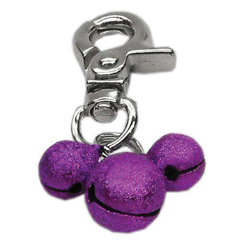 Mirage Pet Lobster Claw Collar Bell Charm Purple-Mirage Pet Products-DirtyFurClothing