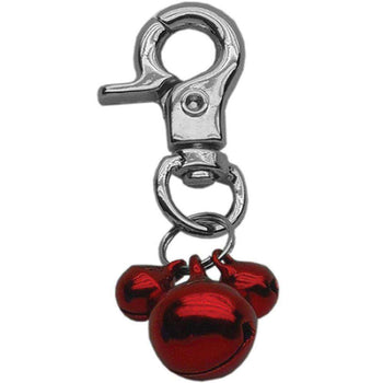 Mirage Pet Lobster Claw Collar Bell Charm Red-Mirage Pet Products-DirtyFurClothing
