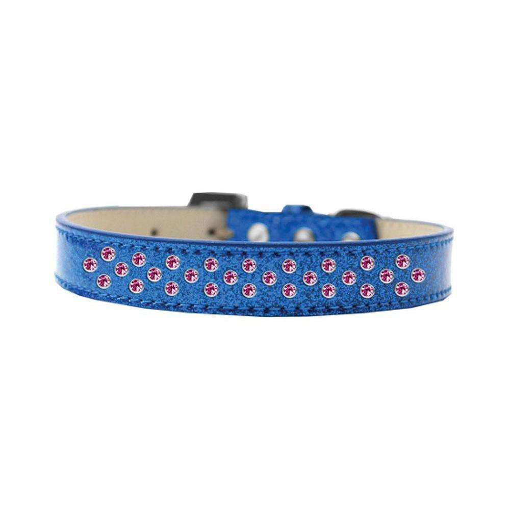 Mirage Pet Sprinkles Ice Cream Adjustable Dog Collar Bright - Pink Crystals Size 14 - Blue-Mirage Pet Products-DirtyFurClothing