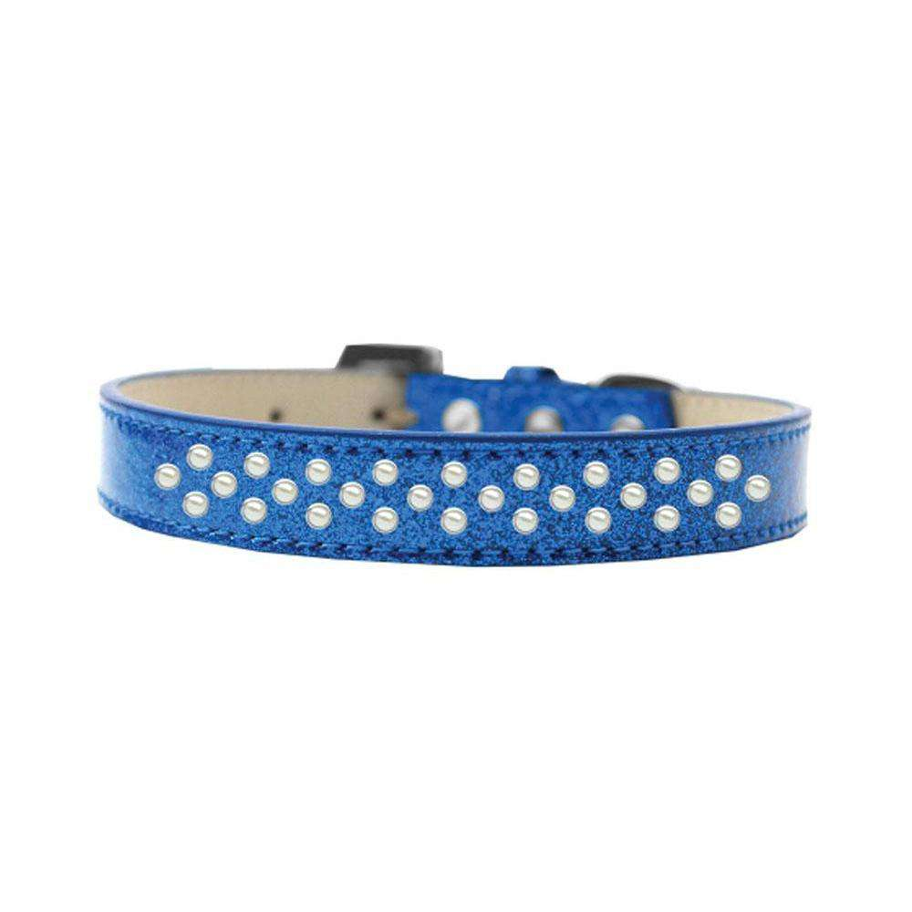 Mirage Pet Sprinkles Ice Cream Adjustable Dog Collar Pearls Size 12 - Blue-Mirage Pet Products-DirtyFurClothing