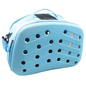 Narrow Shelled Perforated Lightweight Collapsible Military Grade Transportable Designer Pet Carrier-Pet Life-DirtyFurClothing