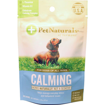 Natural Calming Stress Relief Chews For Dogs-Pet Naturals Of Vermont-DirtyFurClothing