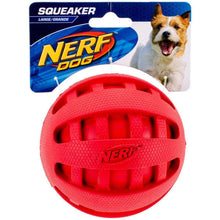 "Nerf Checker Squeak Ball 4""-red-Nerf Dog-DirtyFurClothing"