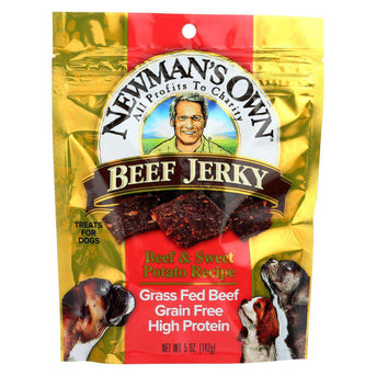 Newman's Own Organics Beef Jerky Treats For Dogs - Beef And Sweet Potato - Case Of 12 - 5 Oz.-Newman's Own Organics-DirtyFurClothing