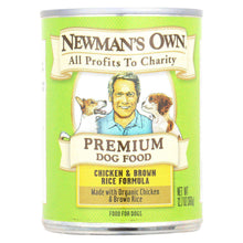Newman's Own Organics Premium Canned Dog Food And Brown Rice - Chicken - Case Of 12 - 12.7 Oz.-Newman's Own Organics-DirtyFurClothing