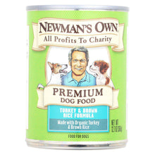 Newman's Own Organics Premium Turkey And Brown Rice Canned Dog Food - Case Of 12 - 12.7 Oz.-Newman's Own Organics-DirtyFurClothing