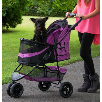 No-zip Special Edition Dog Stroller - Orchid-Pet Gear-DirtyFurClothing