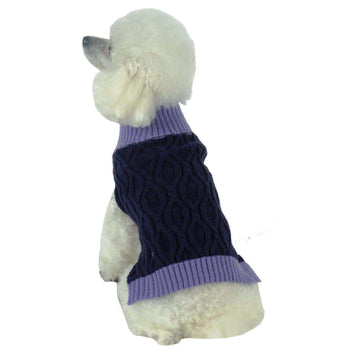 Oval Weaved Heavy Knitted Fashion Designer Dog Sweater-Pet Life-DirtyFurClothing
