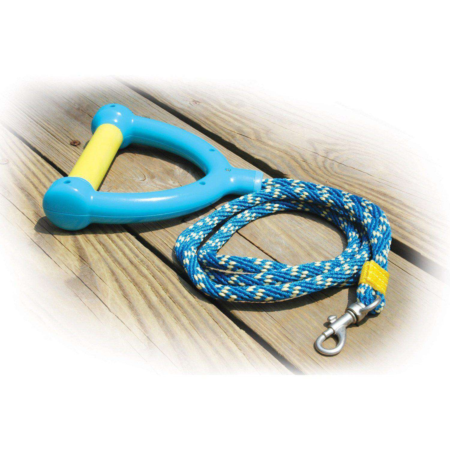 Paws Aboard Active Dog Water Ski Rope Leash - Blue - Yellow-Paws Aboard-DirtyFurClothing