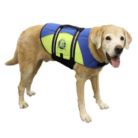 Paws Aboard Large Neoprene Designer Doggy Blue - Yellow Life Guard - Jacket Upto 50-90 Lbs-Paws Aboard-DirtyFurClothing