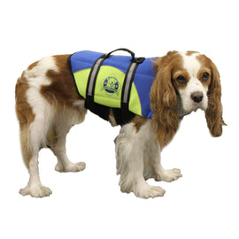 Paws Aboard Small Neoprene Designer Doggy Blue - Yellow Life Guard - Jacket Upto 15-20 Lbs-Paws Aboard-DirtyFurClothing