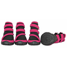 Performance-Coned Premium Stretch Supportive Dog Shoes - Set Of 4 - Black/Pink-Pet Life-DirtyFurClothing
