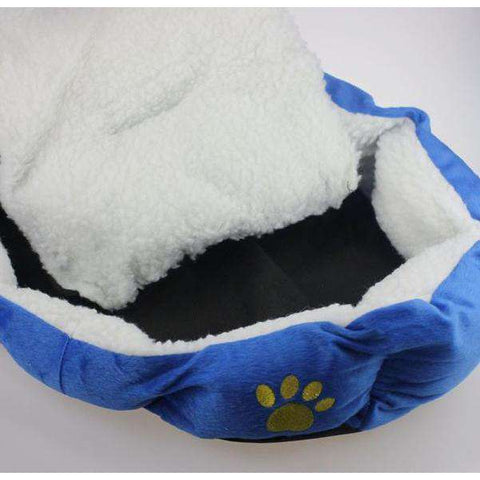 Pet Dog Puppy Fleece Warm Bed House Plush Cozy Nest Mat Pad-DirtyFurClothing-DirtyFurClothing