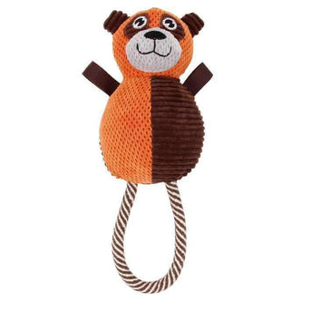 Pet Life Plush Huggabear Natural Jute And Squeak Chew Tugging Dog Toy-Pet Life-DirtyFurClothing