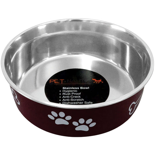 Pet Nautic Fusion Plastic-stainless Steel Bowl 10oz-merlot-Pet Nautic-DirtyFurClothing