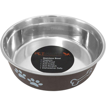 Pet Nautic Fusion Plastic-stainless Steel Bowl 16oz-expresso-Pet Nautic-DirtyFurClothing