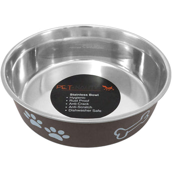 Pet Nautic Fusion Plastic-stainless Steel Bowl 32oz-expresso-Pet Nautic-DirtyFurClothing