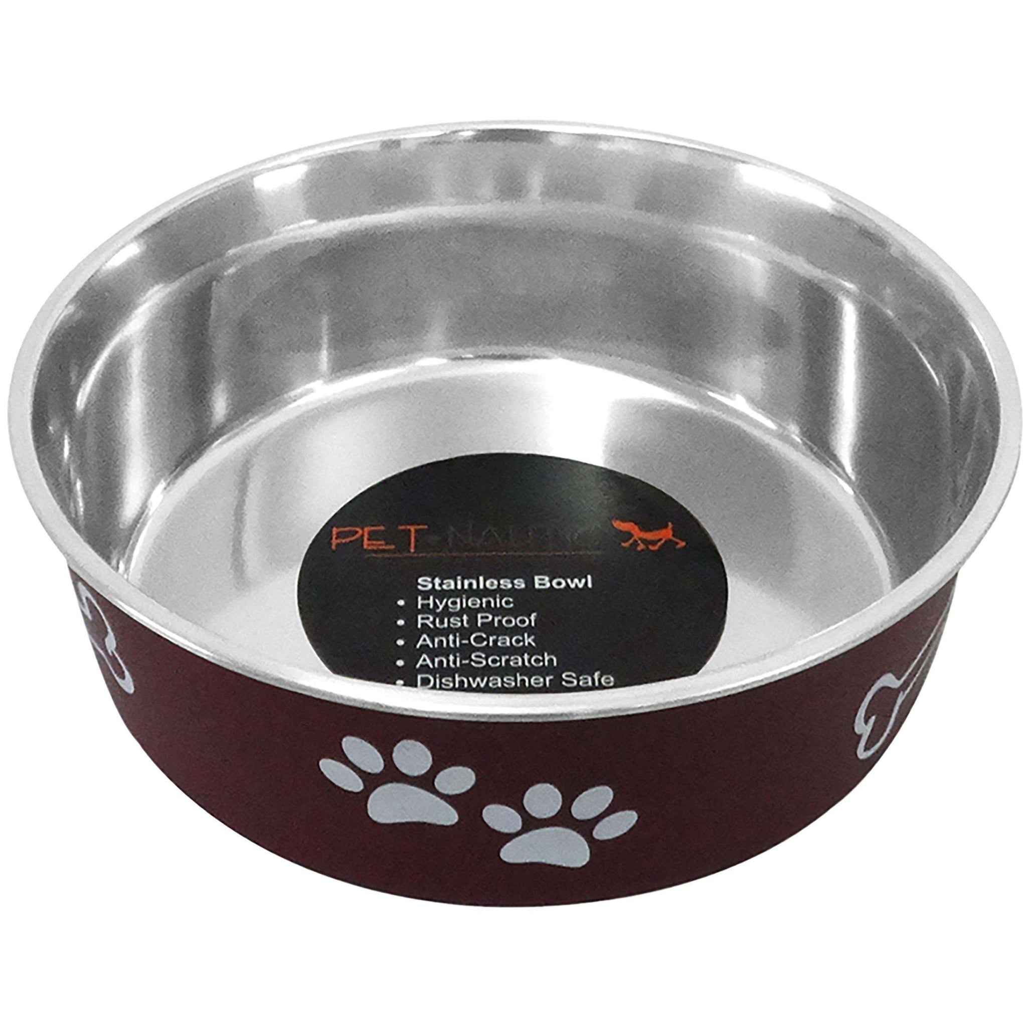 Pet Nautic Fusion Plastic-stainless Steel Bowl 32oz-merlot-Pet Nautic-DirtyFurClothing